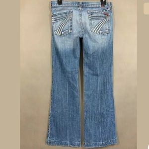 7 For All Mankind Dojo Jeans Light Wash Size 27 in